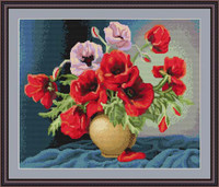 Vase Of Poppies Cross Stitch Kit By Luca S