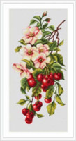 Composition With Cherries Cross Stitch Kit By Luca S