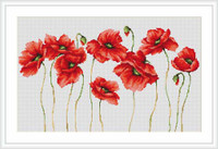 Eleven Poppies Cross Stitch Kit By Luca S