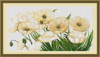 White Poppies I Cross Stitch Kit By Luca S