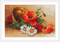 Wild Flowers Cross Stitch Kit By Luca S