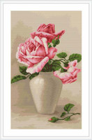 Pink Roses Cross Stitch Kit By Luca S