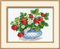 Basket Of Strawberries Cross Stitch Kit