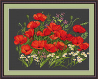 Poppies Ii Cross Stitch Kit By Luca S