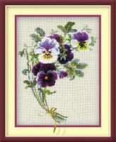 Bunch Of Pansies Cross Stitch Kit