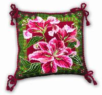 Lilies Cushion Cross Stitch Kit