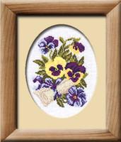 Pansy Letter Cross Stitch Kit