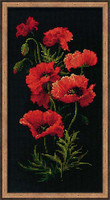 Poppies Cross Stitch Kit By Riolis