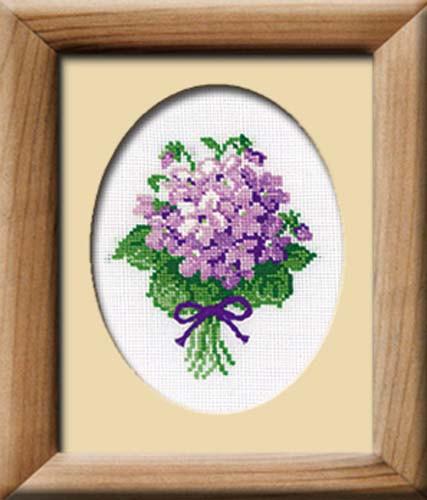 Violets Cross Stitch Kit