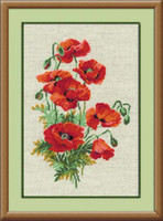 Wild Poppies Cross Stitch Kit