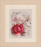 Pink Floral Cross Stitch Kit
