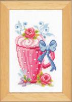 Cupcake Flowers Cross Stitch Kit