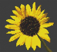 Sunflower Flower Cross Stitch Kit