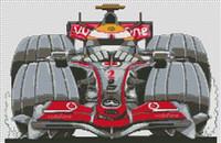 Mclaren Hamilton F1 Caricature Cross Stitch Kit