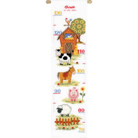 At The Farm Height Chart Cross Stitch Kit By Vervaco