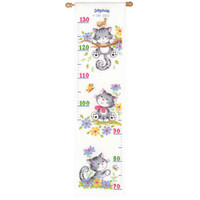 Exploring Kitten Height Chart Vervaco Cross Stitch Kit