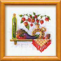Tomato & Eggplant Cross Stitch Kit