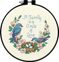 Family Love Learn A Craft Counted Cross Stitch Kit