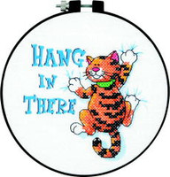 Hang In There Learn A Craft Stamped Cross Stitch Kit