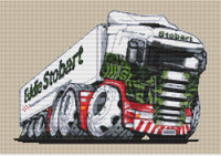 Eddie Stobart Refrigerated Lorry Cross Stitch Kit By Stitchtastic