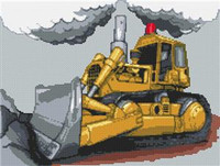 Bulldozer  Cross Stitch Kit
