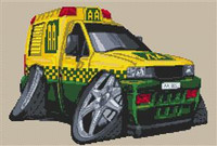 Vauxhall Aa Breakdown Van Cross Stitch Kit