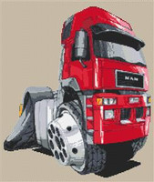 F2000 Artic Truck Rig Cross Stitch Kit