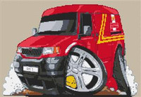 Royal Mail Ldv 200 Van Cross Stitch Kit