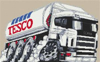 Tesco Fuel Tanker Cross Stitch Kit
