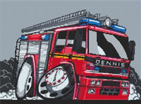 Dennis Firetruck Cross Stitch Kit