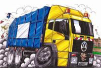 Refuse Truck Seddon Cross Stitch Kit