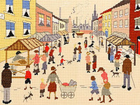 Friday Market Cross Stitch Kit