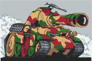 Panther Tank Cross Stitch Kit