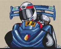 Go Cart Caricature Cross Stitch Chart By Stitchtastic