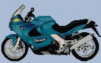 Bmw K1200 Rs Motorbike Cross Stitch Kit By Stitchtastic
