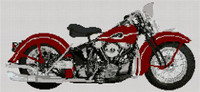 Harley Davidson 1946 Motorcycle Cross Stitch Kit By Stitchtastic