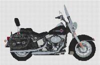 Harley Davidson Heritage Softtail Cross Stitch Kit By Stitchtastic