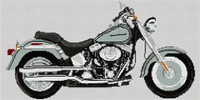 Harley Davidson Limited Edition Platinum Fatboy Cross Stitch Kit By Stitchtastic