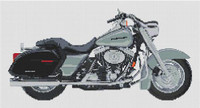 Harley Davidson Platinum Road King Cross Stitch Kit By Stitchtastic