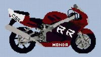 Honda Fireblade 1998 Motorcycle Cross Stitch Kit By Stitchtastic