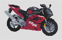 Honda Fireblade 2003 Motorcycle Cross Stitch Kit By Stitchtastic