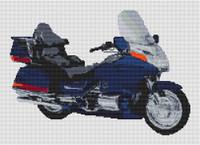 Honda Goldwing Motorcycle Cross Stitch Kit By Stitchtastic