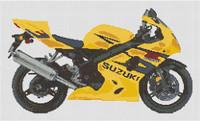 Suzuki Gsxr 600 K4 Motorcycle Cross Stitch Kit By Stitchtastic