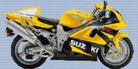 Suzuki Tl 1000R Motorbike Cross Stitch Kit By Stitchtastic