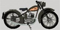 Bsa D1 Bantam 1949 Cross Stitch Kit