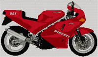 Ducati  851 Motorcycle Cross Stitch Kit