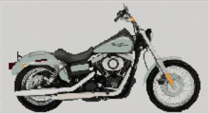Harley Davidson 2007 Street Bob Cross Stitch Kit