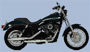 Harley Davidson Fxdx Dyna Super Glide Cross Stitch Kit
