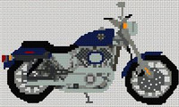 Harley Davidson Sportster Cross Stitch Kit