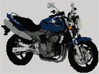 Honda Hornet Motorcycle Cross Stitch Kit
